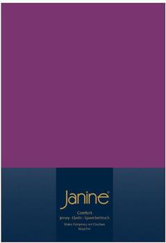 Janine Spannbetttuch Jersey 140x200-160x200cm 65 malve