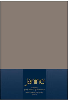 Janine Spannbetttuch Jersey 140x200-160x200cm 57 taupe