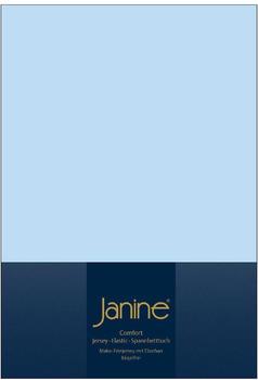 Janine Spannbetttuch Jersey 140x200-160x200cm 12 hellblau