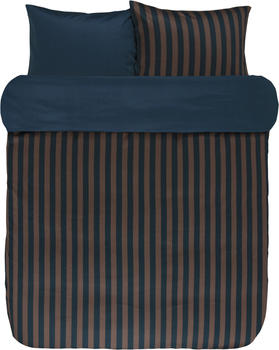 Marc O'Polo Classic Stripe 80x80+155x220cm marine/earth brown