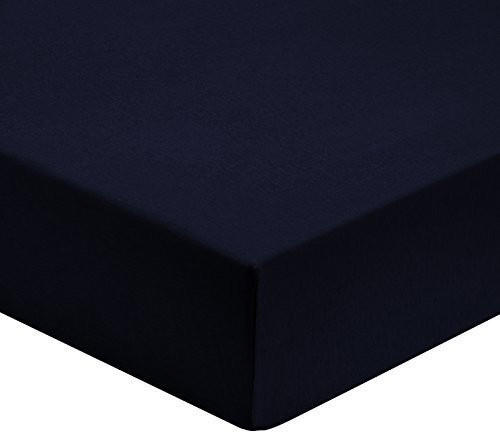 Biberna 77144 Jersey-Stretch (140 - 160 x 200 cm) marine