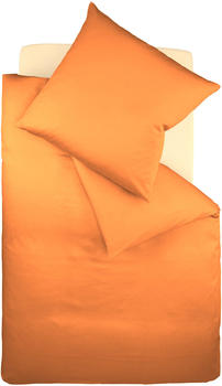 Fleuresse Colours Uni-Mako-Satin Bettwäsche (135 x 200 cm) orange