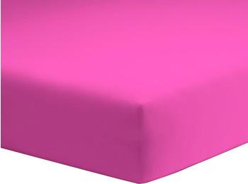 Schlafgut Basic Jersey-Spannbetttuch 140x200-160x200cm pink