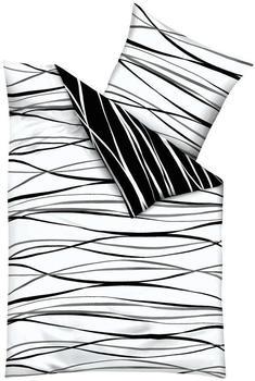 Kaeppel Motion Biber 80x80+155x220cm schwarz-weiß