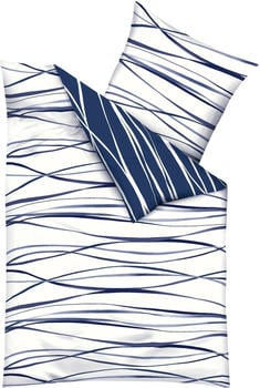 Kaeppel Motion Satin 80x80+155x220cm blau