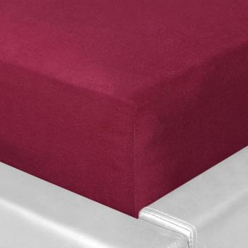 Schlafgut Basic Jersey-Spannbetttuch 140x200-160x200cm bordeaux