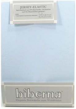 Biberna 77866 Jersey-Stretch 180x200-200x220cm hellblau