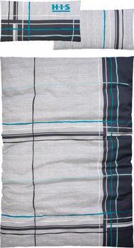 H.I.S Jeans Piet Biber 80x40+135x200cm grau