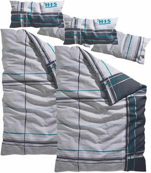 H.I.S Jeans Piet Biber 2x80x40+2x135x200cm grau