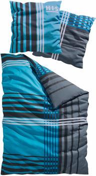 H.I.S Jeans Philip Linon 80x80+135x200cm blau