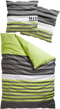 H.I.S Jeans Majoran Biber 80x80+135x200cm grün