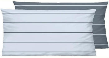 Biberna Mix Match 2x 80x40cm Streifen rauchblau