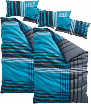 H.I.S Jeans Philip Biber 2x80x40+2x135x200cm blau