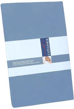 Cotonea Edel-Biber Spannbetttuch 120x200cm blau