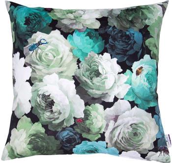 Tom Tailor Velvet Flowers 60x60cm grün