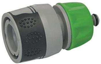 Silverline Schlauchkupplung mit Wasserstopp und weichem Griffstück