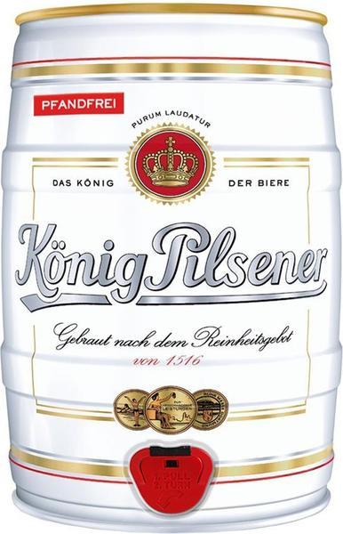 König Pilsener Premium Pils Partyfass 5l