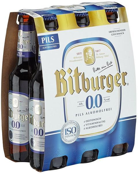 Bitburger 0,0% Pils alkoholfrei 6x0,33l