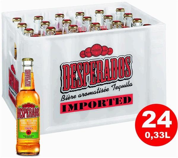 Desperados Bier mit Tequila Flavor 24x0,33l Kasten