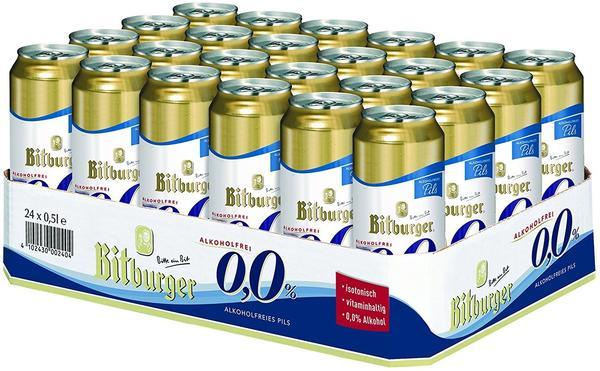 Bitburger 0,0% Pils alkoholfrei 24x0,5l Dose