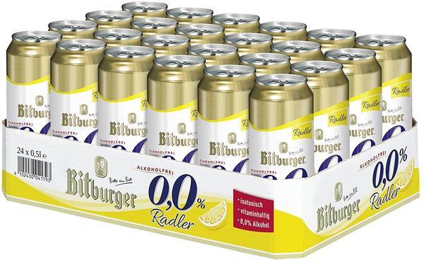 Bitburger 0,0% Radler alkoholfrei 24x0,5l Dose