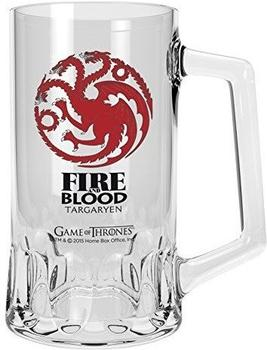 Close Up Game of Thrones Bierglas 500 ml Logo Targaryen