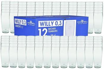 Van Well Bierglas Willibecher 0,3 l geeicht 120er Set