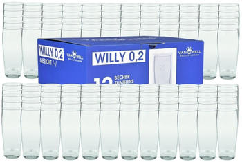 Van Well Bierglas Willibecher 0,2 l geeicht 120er Set