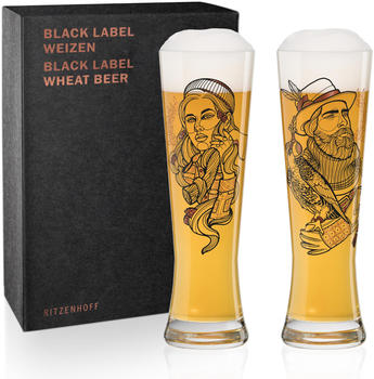 Ritzenhoff Black Label Weizenbierglas 2er V. Bott F20