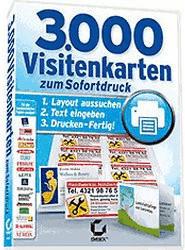 Sybex Verlag 3000 Visitenkarten zum Sofortdruck (Win) (DE)