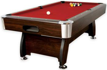 Maxstore 7 ft Pool Billardtisch Premium braun/rot