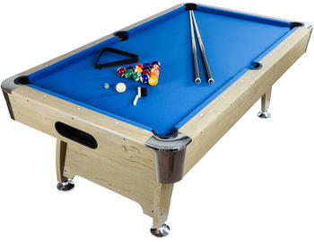 Maxstore 7 ft Pool Billardtisch Premium hell/blau