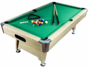 Maxstore 7 ft Pool Billardtisch Premium hell/grün