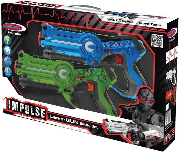 Jamara Impulse - Laser Gun Battle Set blau/grün