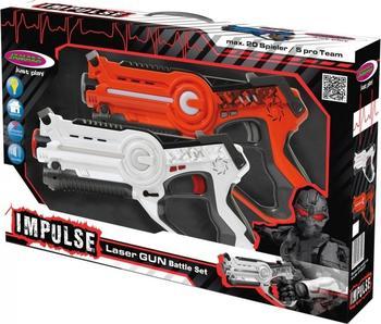 Jamara Impulse - Laser Gun Battle Set orange/weiß