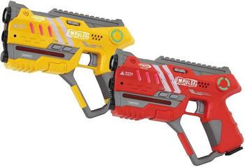 Jamara Impulse - Laser Gun Pistol Set gelb/rot