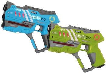Jamara Impulse - Laser Gun Pistol Set blau/grün