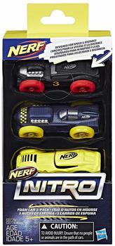 Nerf Nitro Foam Cars 3 Pack C07778