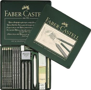 Faber-Castell PITT Monochrome Graphite Metalletui (19er Set)