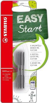 Stabilo EASYergo 3.15 Nachfüllminen 6er Pack Härtegrad HB