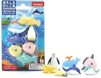 iwako Eraser Blister Marine Animals (ERZ2005)