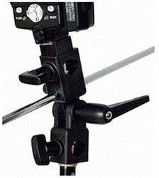 Interfit STR117 Schirmhalter mit Blitzschuhadapter