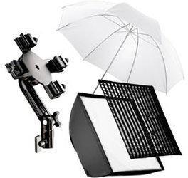 Walimex 4f Blitzhalter inkl. SB 60 + Schirm weiß