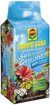 Compo Sana Qualitäts-Blumenerde (50% weniger Gewicht) 25 Liter
