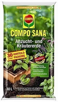 Compo Sana Anzucht- und Kräutererde 30 Liter