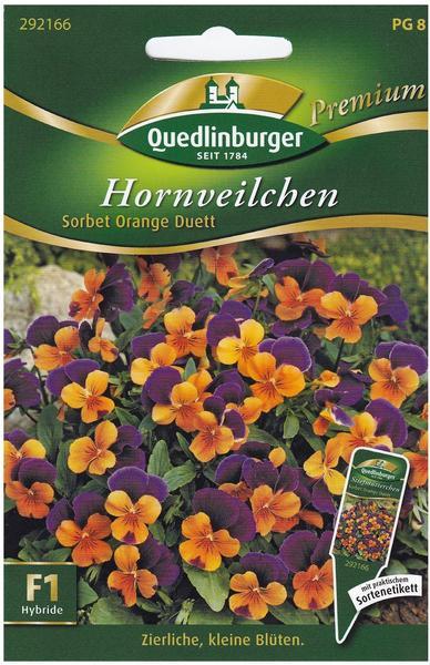 Quedlinburger Saatgut Hornveilchen Sorbet Orange Duett F1
