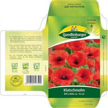 Quedlinburger Saatgut Klatschmohn rot