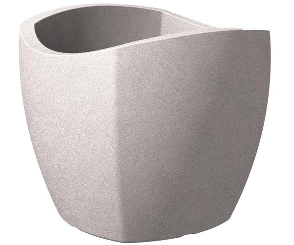 Scheurich Wave Globe Cubo 50cm taupe/granit