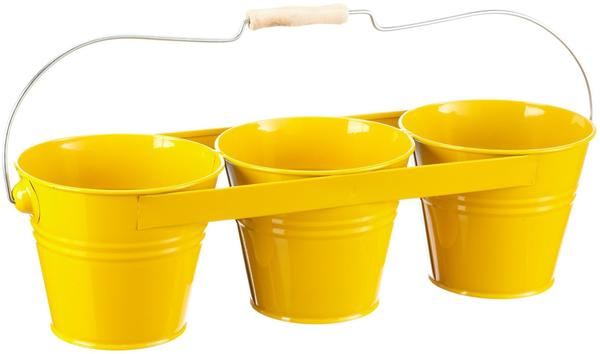 Siena Garden Blumentopf 3-fach gelb