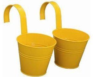 siena-garden-blumentopf-inkl-halter-2er-set-gelb